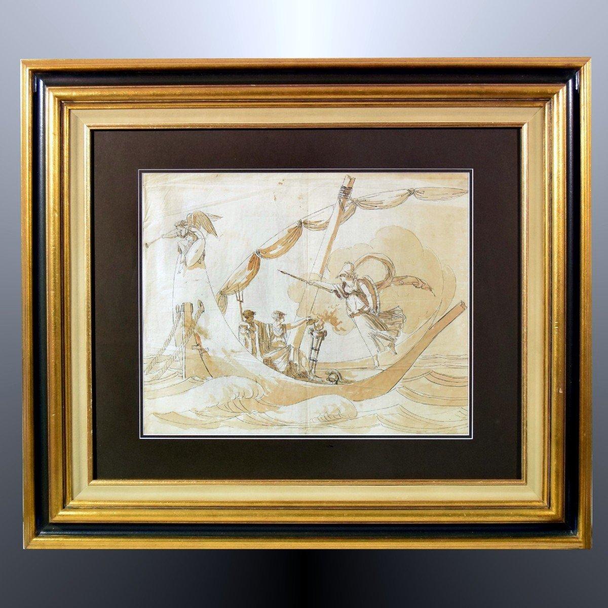 Grand dessin Athena (Minerve) XVIIIème