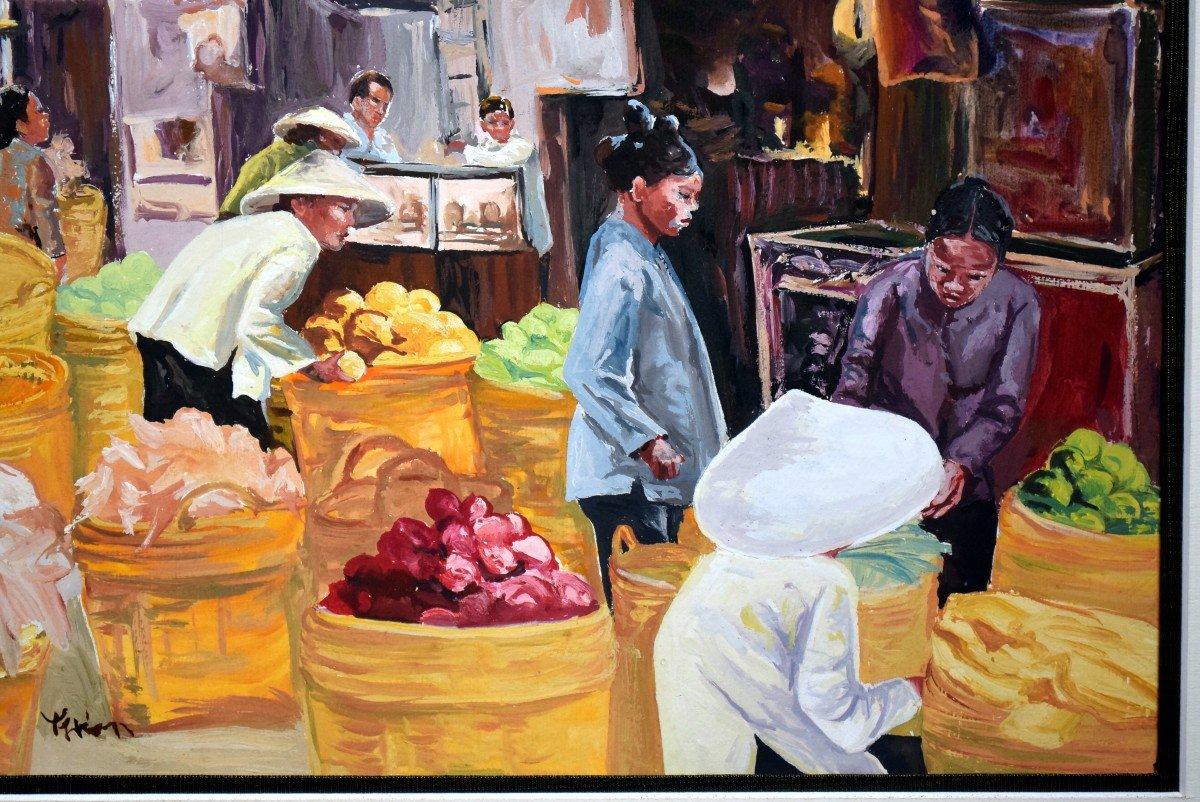 Scène de marché au Vietnam -photo-1