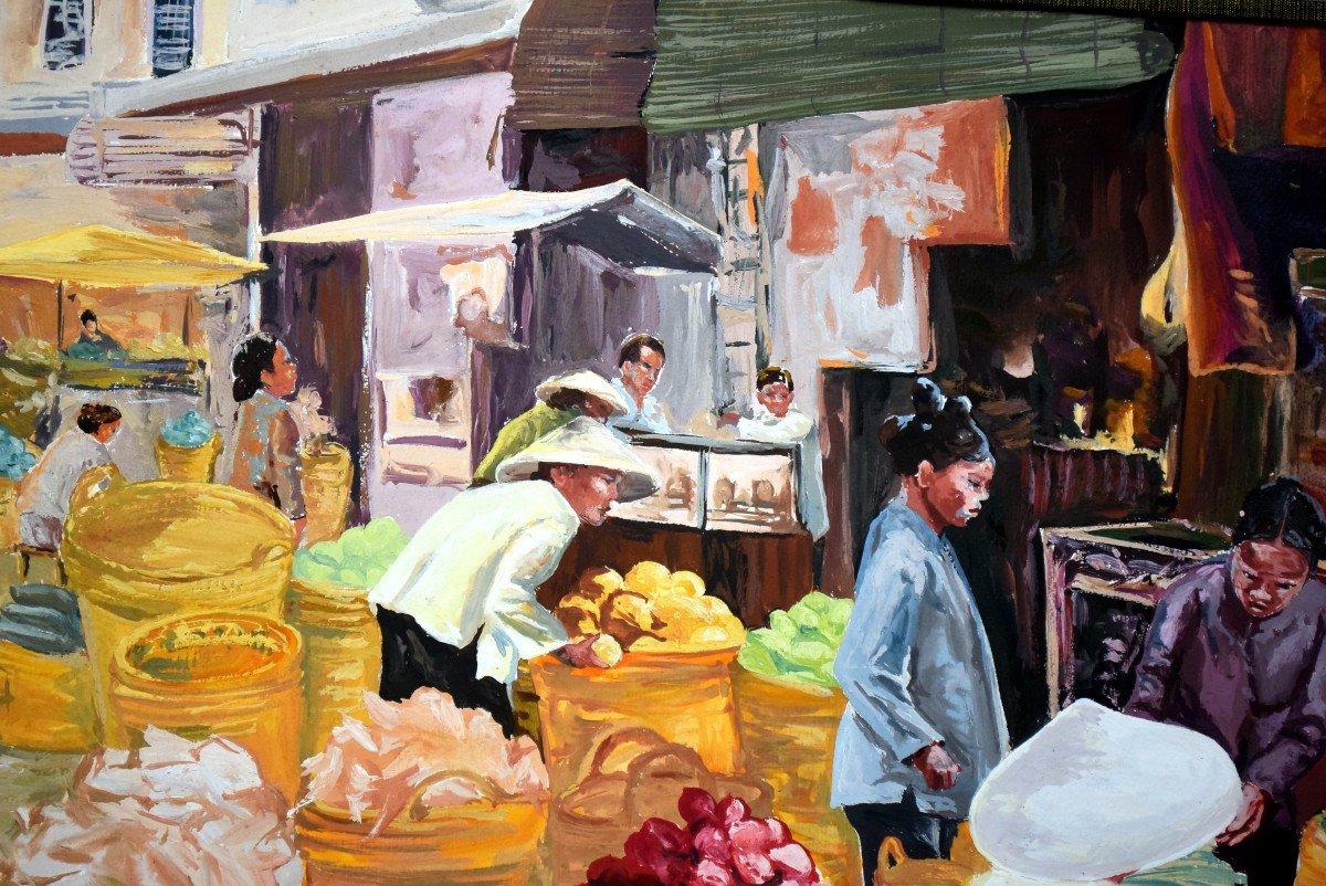 Scène de marché au Vietnam -photo-2