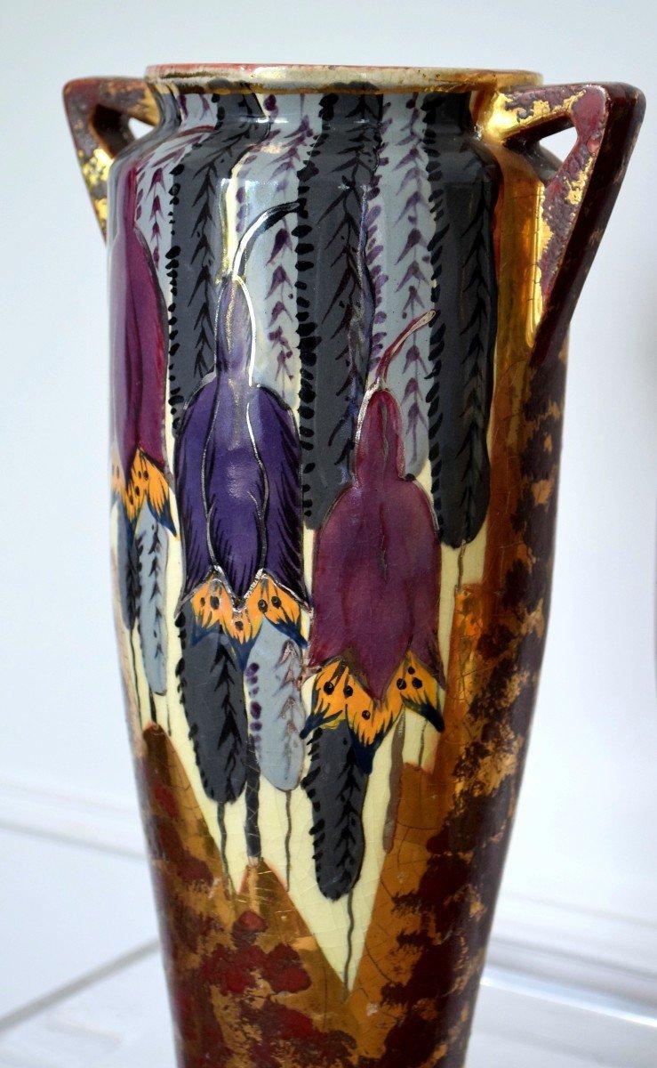 Pair Of Art Deco Vases By Louis Dage-photo-3
