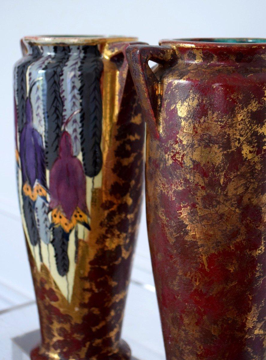 Pair Of Art Deco Vases By Louis Dage-photo-5