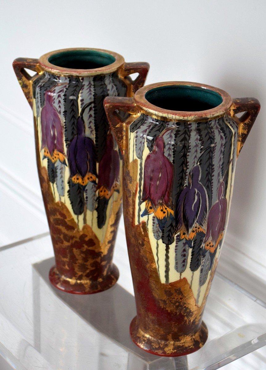 Pair Of Art Deco Vases By Louis Dage-photo-6