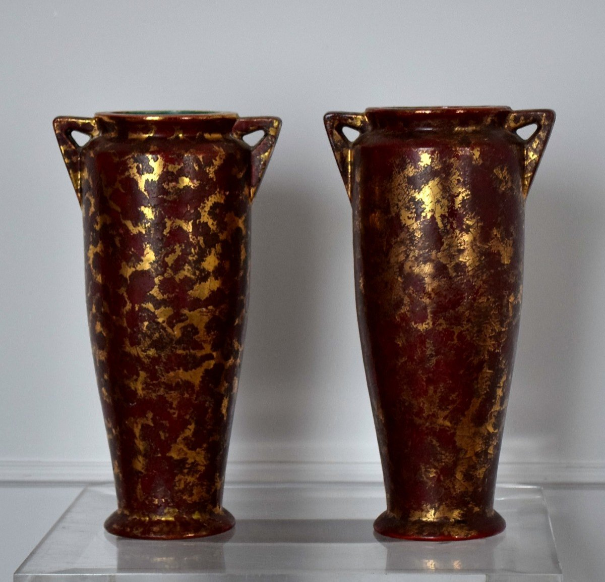 Pair Of Art Deco Vases By Louis Dage-photo-7