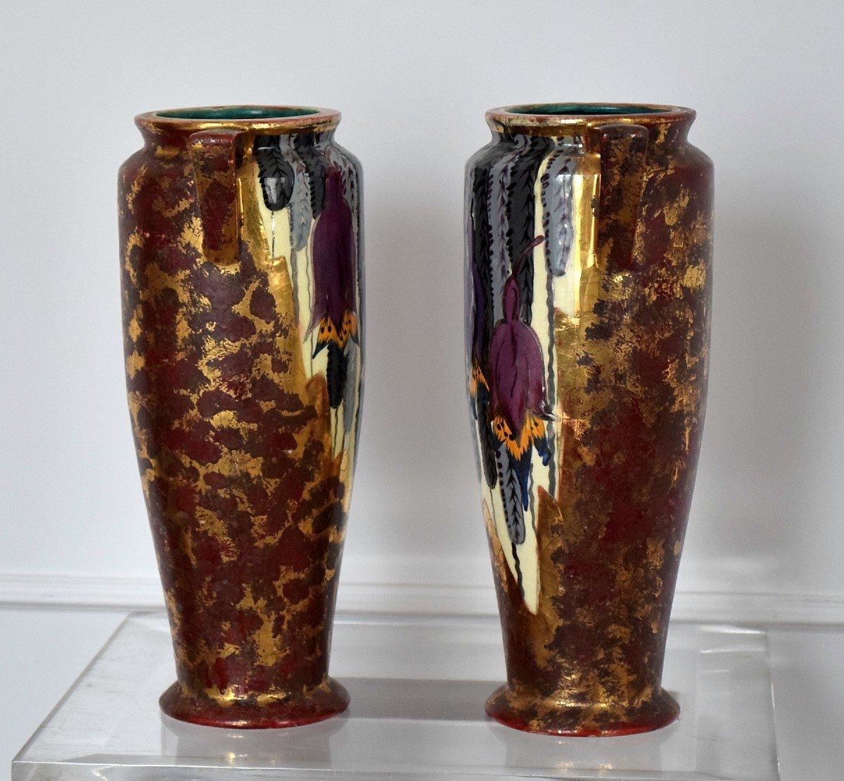 Pair Of Art Deco Vases By Louis Dage-photo-8