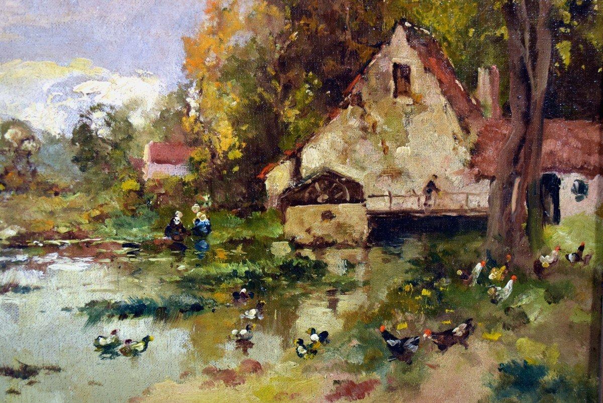 «Moulin» Ecole de Barbizon XIXème-photo-1