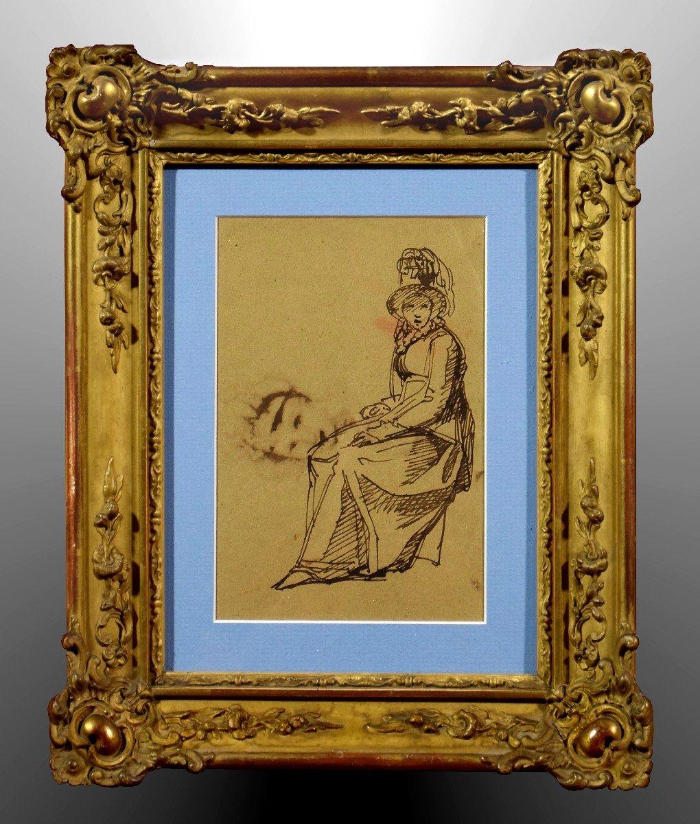 Dessin Attribué à Clément-Auguste Andrieux