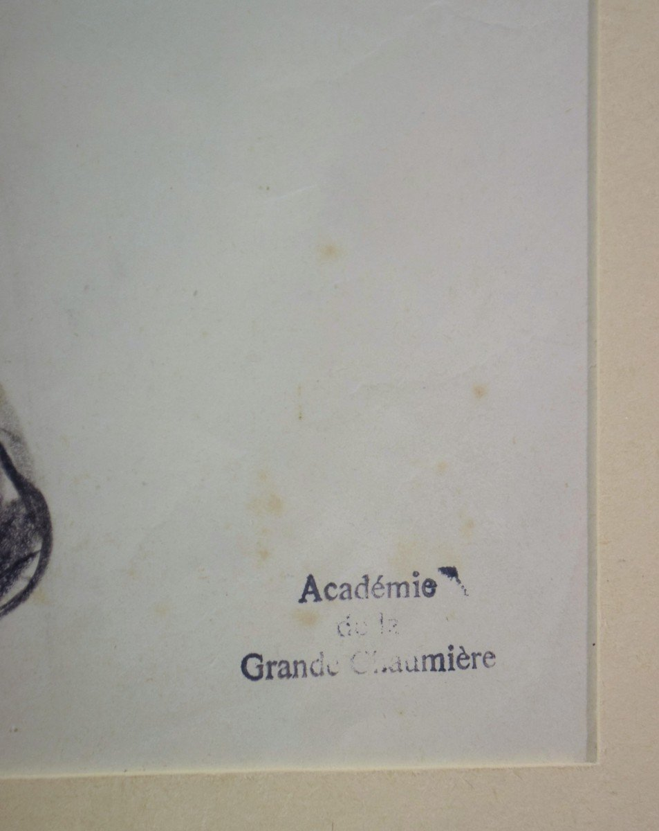 Dessin cubiste Atelier A. Lhote Académie de la Grande Chaumière Début XXème-photo-3