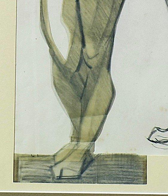 Dessin cubiste Atelier A. Lhote Académie de la Grande Chaumière Début XXème-photo-5