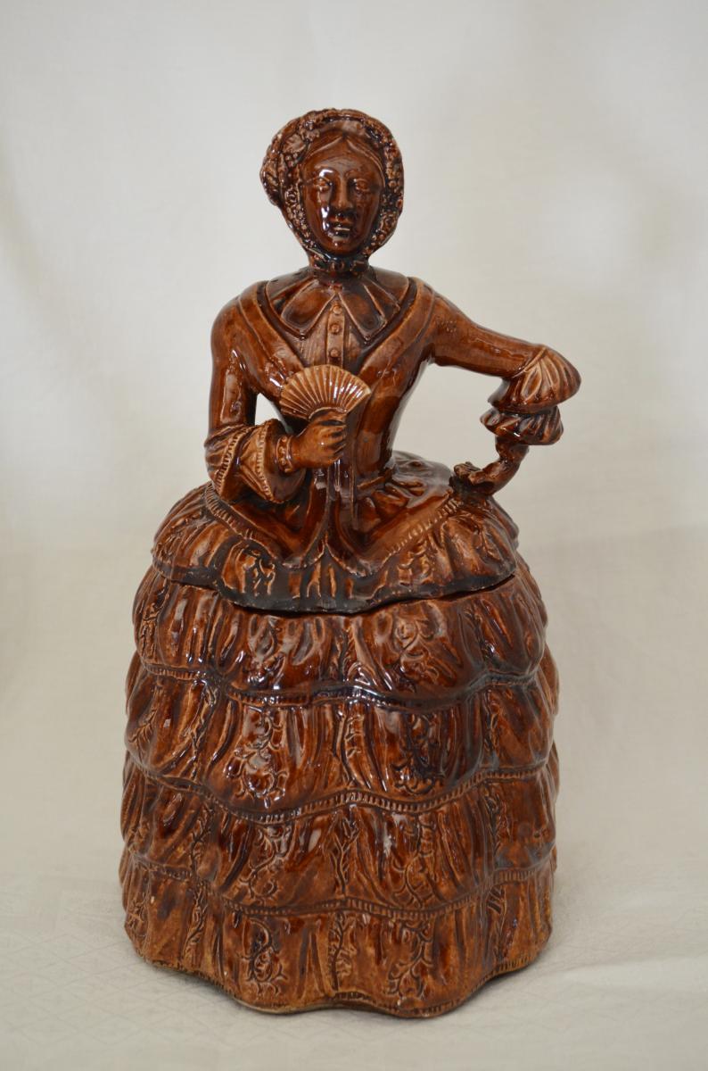 Pot à Tabac En Grès De Beauvaisis XIXème