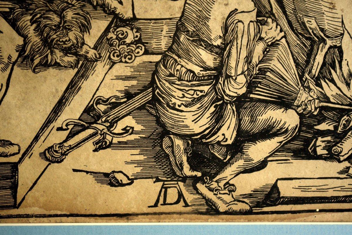 La torture de Saint Jean l'Evangéliste Gravure d'après Albrecht Dürer XIXè-photo-4