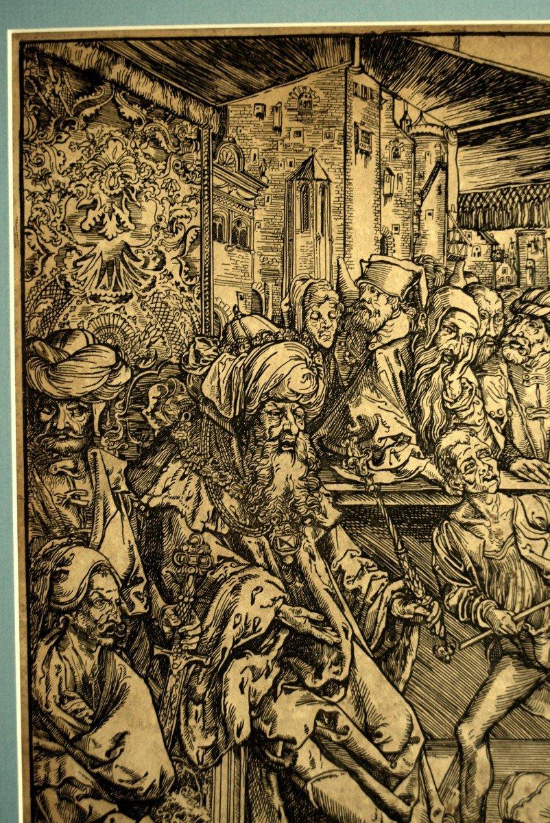La torture de Saint Jean l'Evangéliste Gravure d'après Albrecht Dürer XIXè-photo-2