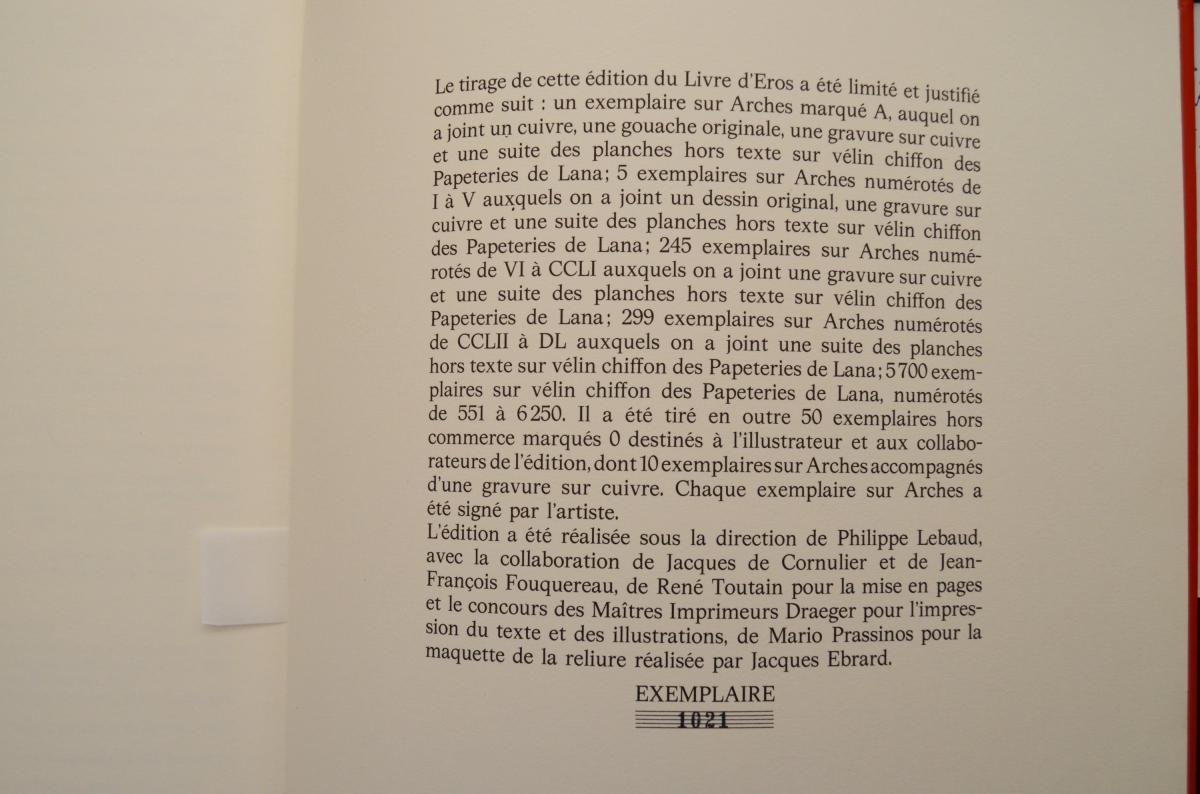 Le Livre d'Eros Pierre-yves Tremois Avec Dédicace-photo-7