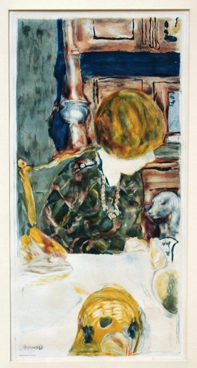 Pierre Bonnard Aquatinte par Jacques Villon La femme au chien-photo-2