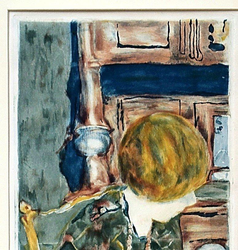 Pierre Bonnard Aquatinte par Jacques Villon La femme au chien-photo-3