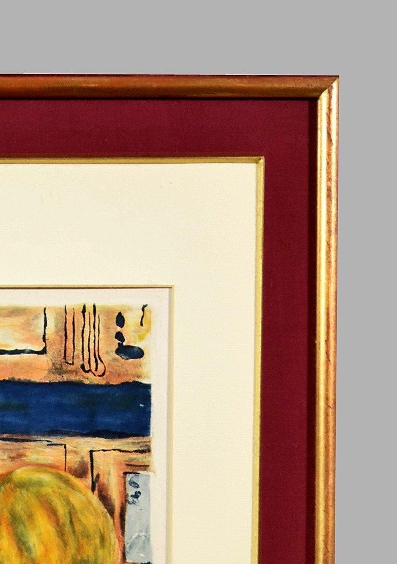 Pierre Bonnard Aquatinte par Jacques Villon La femme au chien-photo-4