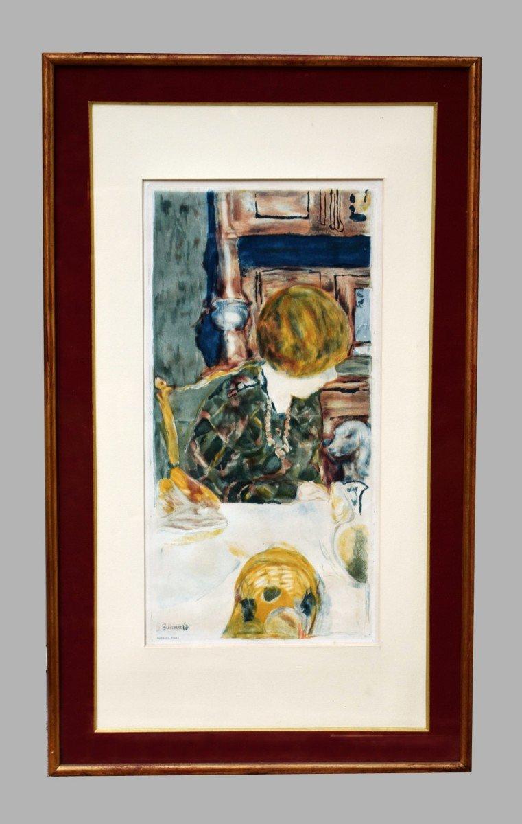 Pierre Bonnard Aquatinte par Jacques Villon La femme au chien