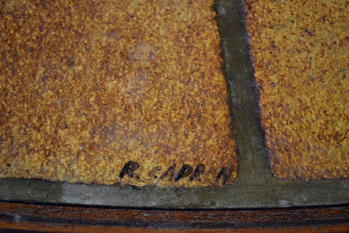 Table basse ovale signée Roger Capron -photo-2