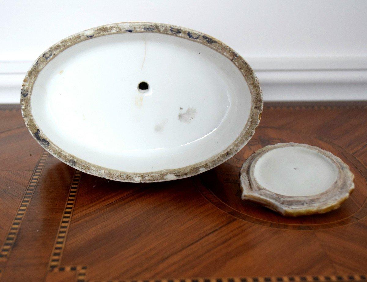 Encrier au dauphin Porcelaine de Paris Epoque Charles X-photo-8