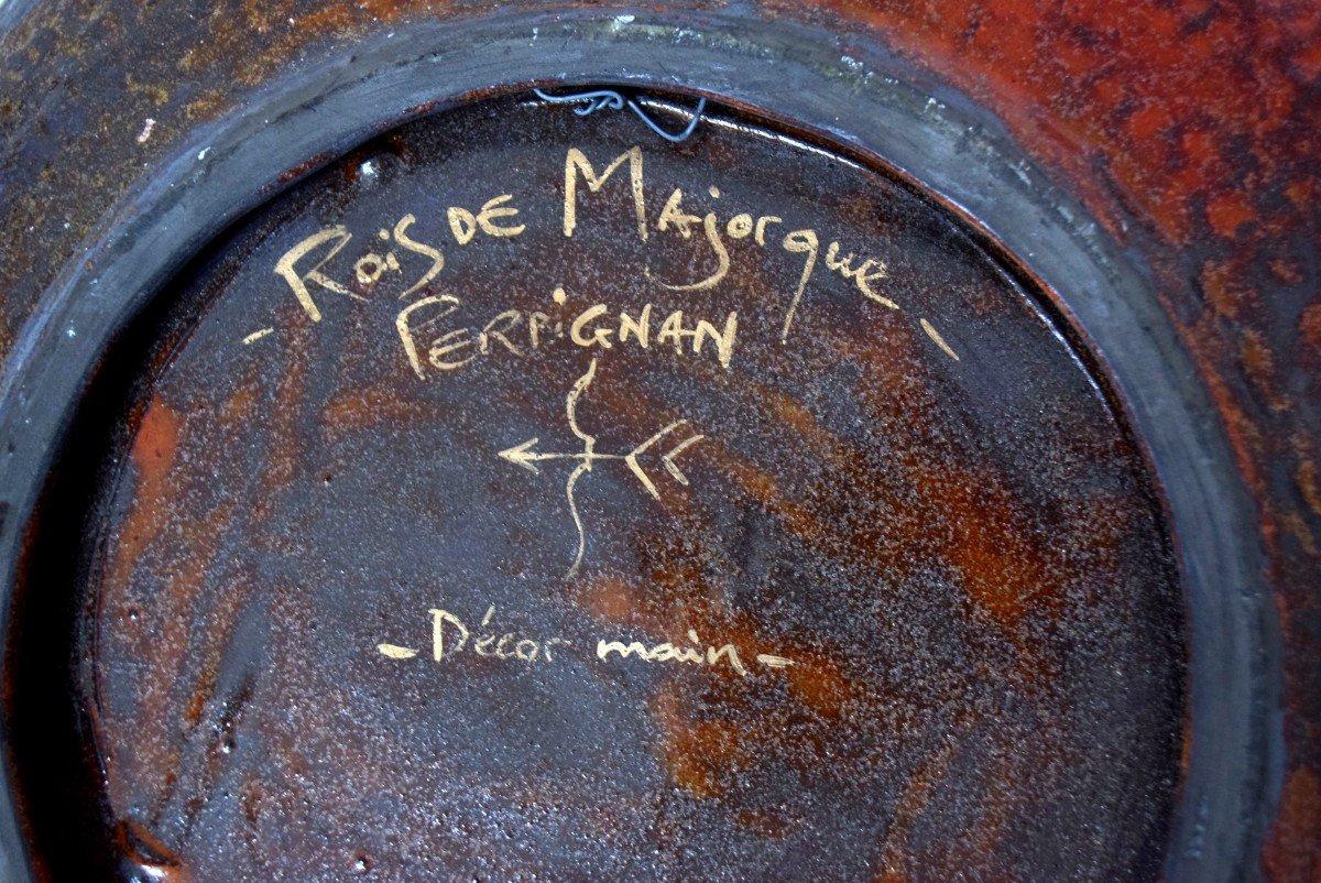 Grand plat céramique Rois de Majorque -photo-3