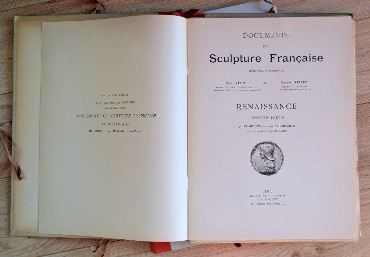 Documents de Sculpture Française Renaissance P.Vitry et G.Brière D.A.Longuet Editeur-photo-3
