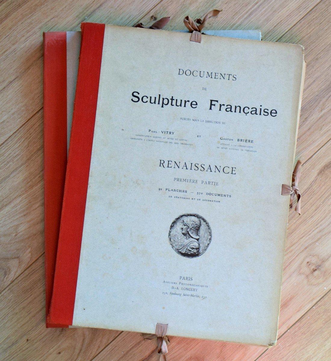 Documents de Sculpture Française Renaissance P.Vitry et G.Brière D.A.Longuet Editeur