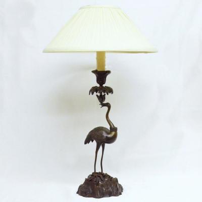 Lampe En Bronze Style Louis XV Dans Le Goût De l'Orient XIXème