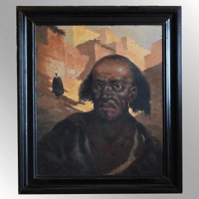 Portrait Peinture Orientaliste Signée Janniot
