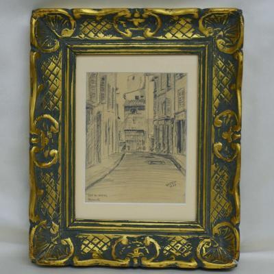 """Dessin """"Rue du Panier à Marseille"""" par Epstein 1940"""