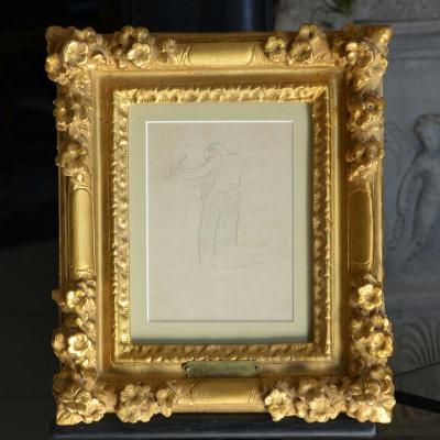 """Dessin """"le Jardinier"""" Par Gustave Buchet"""
