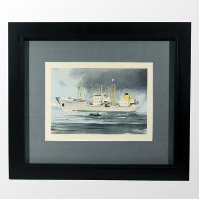 """Albert Brenet """"Le Saint-marc"""" Peintre officiel de la Marine"""