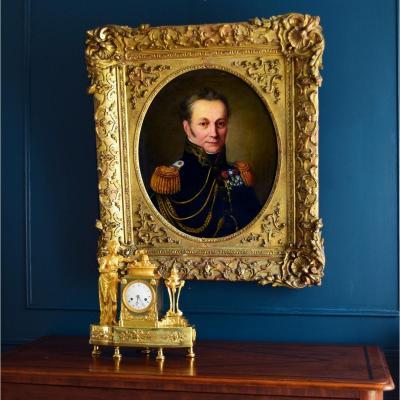 Portrait Lieutenant Colonel d'état Major Début XIXème