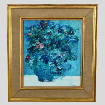 Bouquet de Fleurs Signé Estèbe