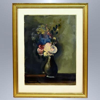 According To M. De Vlaminck Heliogravure Bouquet Of Flowers