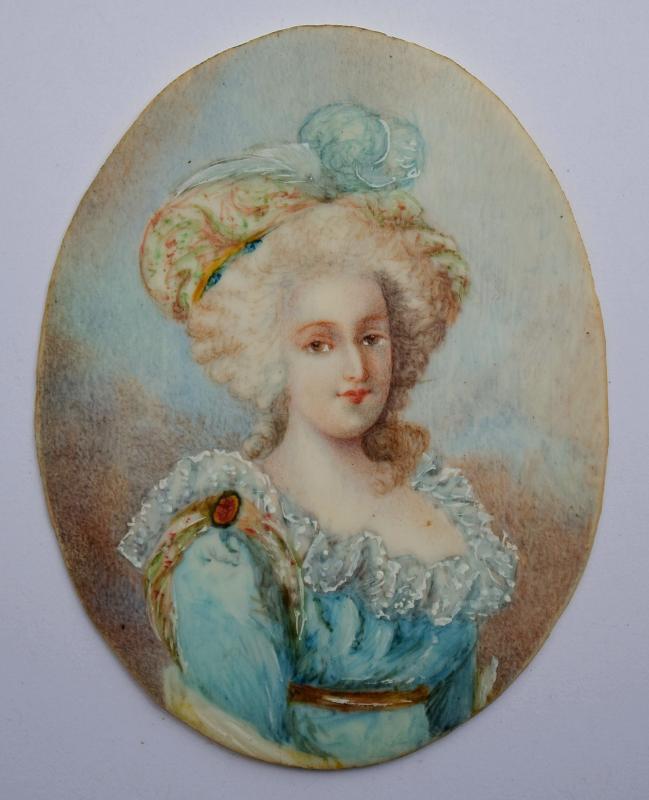 Miniature sur ivoire Marie-Antoinette d'Autriche -photo-2