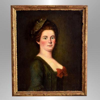 Portrait d'une élégante XVIIIè