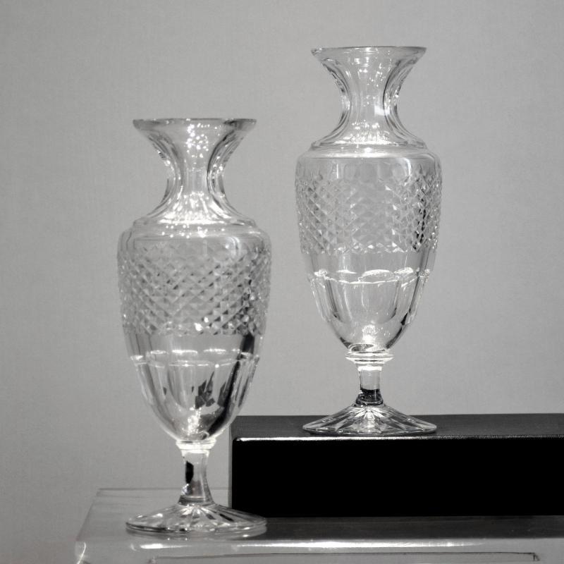 Paire de vases balustres cristal de Sèvres-photo-2