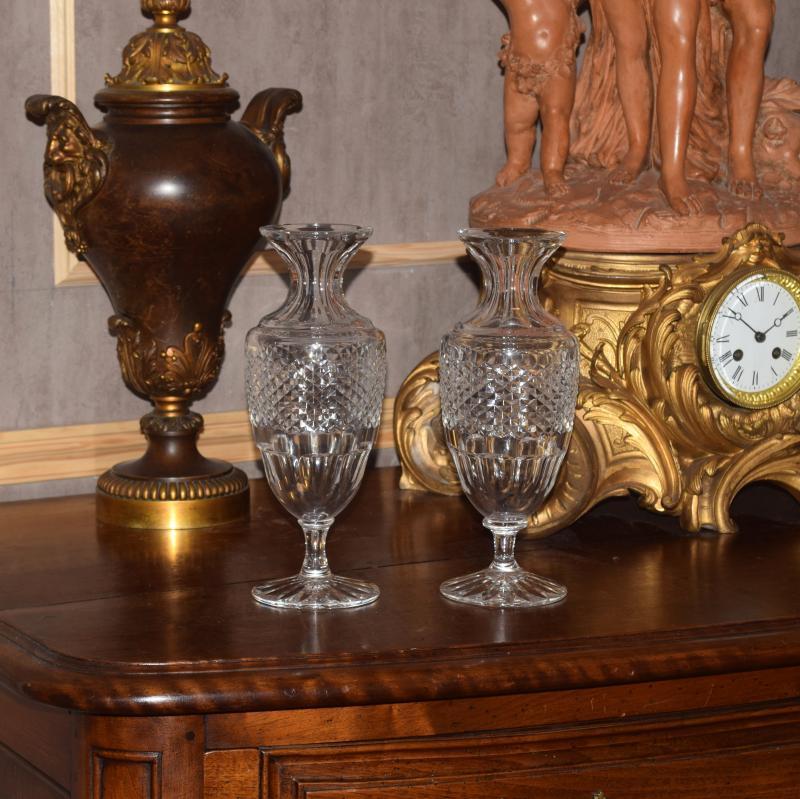 Paire de vases balustres cristal de Sèvres-photo-3