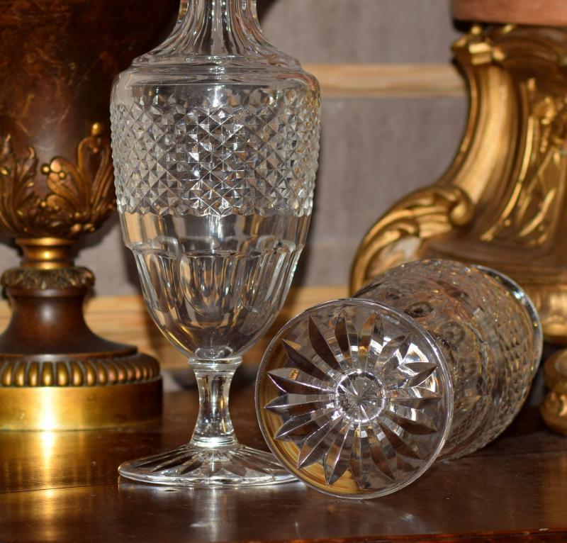 Paire de vases balustres cristal de Sèvres-photo-4