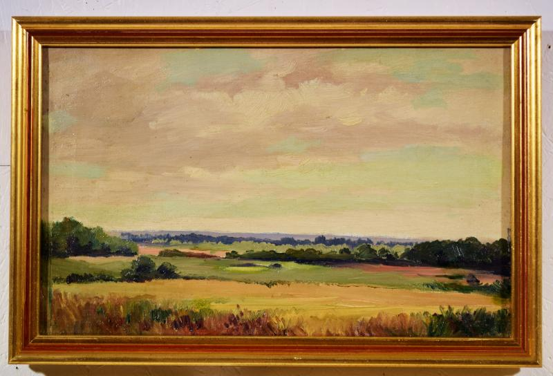 Trois paysages de Sologne par Maurice Golleau (1897-1970)-photo-2