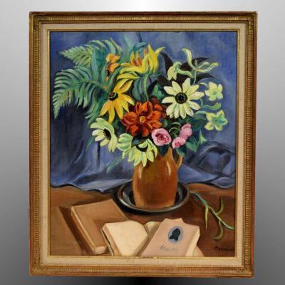 Nature morte par Maurice Mourlot (1906-1983)