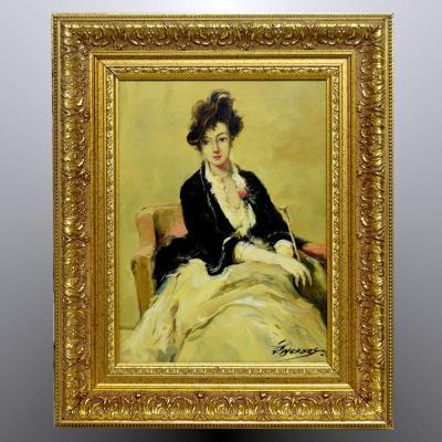 Portrait de jeune femme Fin XIXè