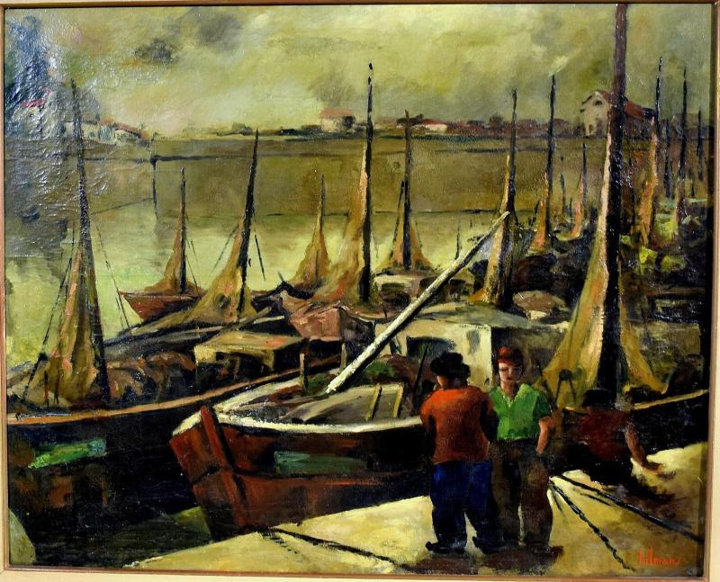 Fishing Port By Emile-henry Tilmans 1949-photo-2