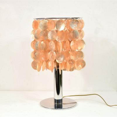 Lamp With Mother Of Pearl Pendants