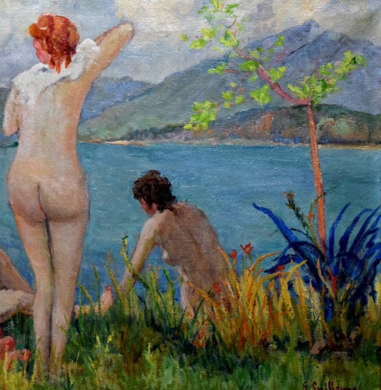 Au bord du Lac du Bourget signé G.Guillaume-photo-3