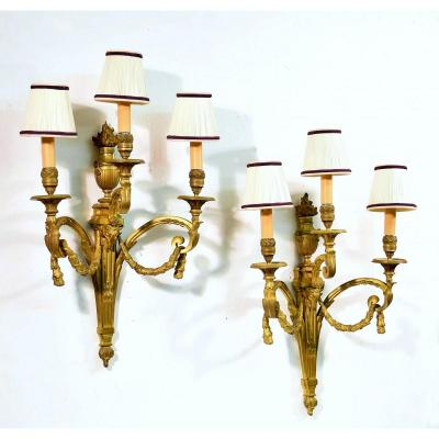 Pair Of Sconces Model By Jean-charles Delafosse