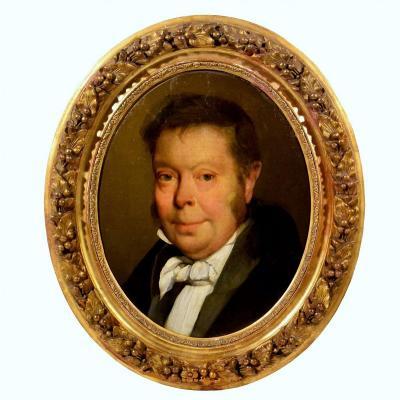 Portrait de notable - Suiveur de L.L.Boilly XIXème