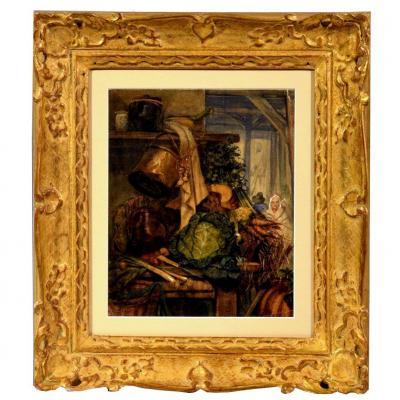 """""""market In The Medina"""" Watercolor Gouache"""