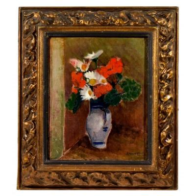 Bouquet Of Flowers By Maurice-henri Gaudefroy