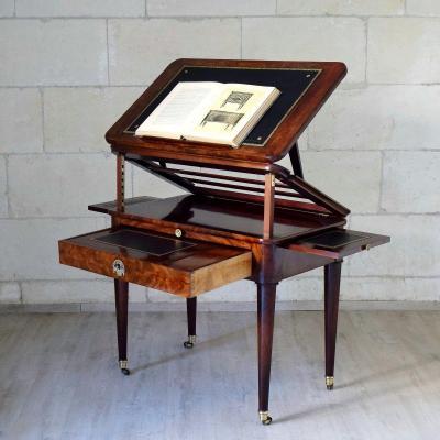 """Table """"à la Tronchin"""" en acajou Epoque Restauration XIXème"""