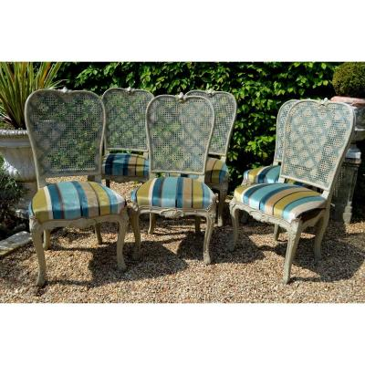 Suite Of Six Louis XV Regency Chairs